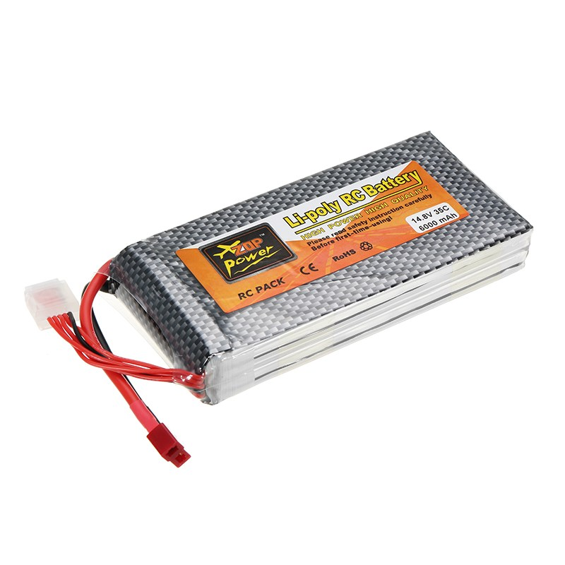 Image 2 - ZOP Power 14.8V 6000mah 35C 4S Lipo Battery Rechargeable T Plug for RC Model Helicopter Spare Part Accessories-in Parts & Accessories from Toys & Hobbies