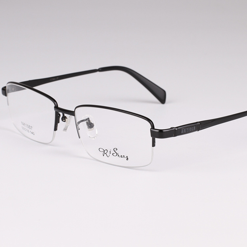 pure titanium eyeglasses frames simple style prescription eyewear spectacle frame for men