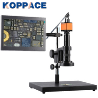 KOPPACE 15X 95X 16MP Full HD 1080P HDMI HD Output Industry Microscope Video Camera for Phone PCB Repair 11.6 inch display screen