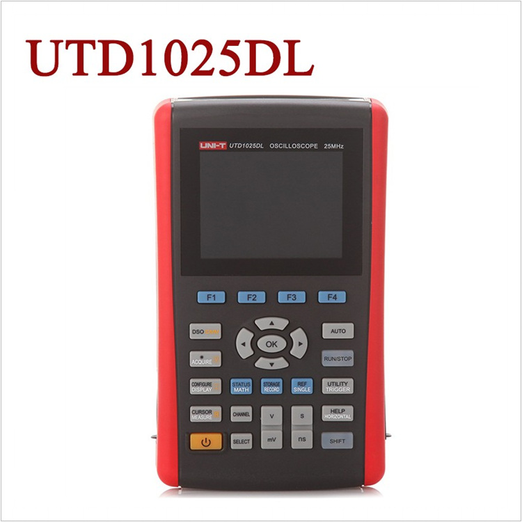 UNI-T UTD1025DL Handheld Digital Storage Oscilloscope 2 channels 25MHz 250MS/s цена и фото