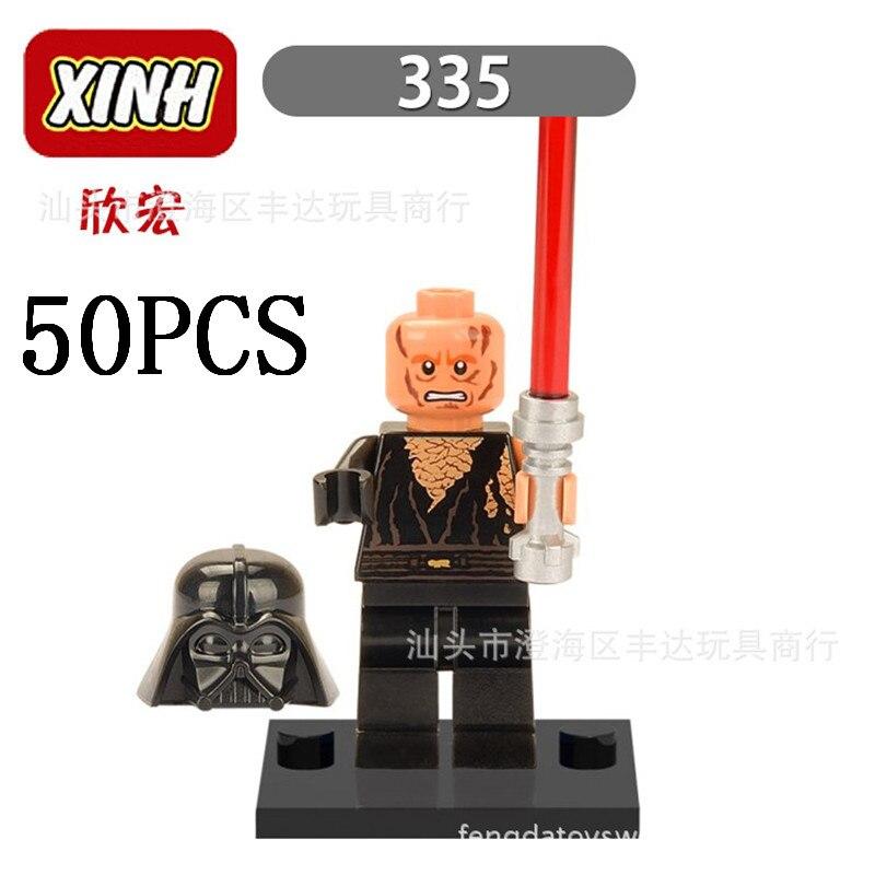 Gifts Pogo Wholesales XH335 50PCS Star Wars Building Blocks Bricks Toys Action Figures Compatible With Legoe