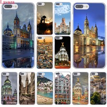 Lavaza Madrid Capital of Spain Capa Palace Hotel Hard Phone Case for Apple iPhone 8 7 6 6S Plus X 10 5 5S SE 5C 4 4S