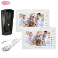 7inch TFT Color LCD Video Door Phone 2 Monitors + Night Vision Metal Waterproof Camera Home Video Phone Intercom on The Gate Kit