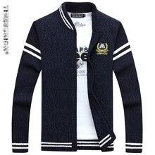 TIMESUNION 2017 New Winter Autumn Cotton Sweater Men Brand Clothing Striped Zipper Fashion Casual Cardigan Mens