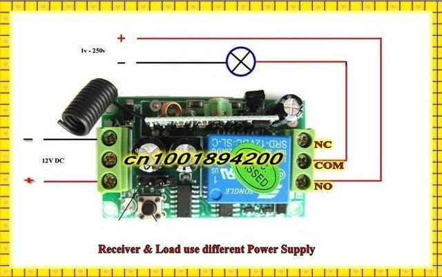 DC 12V 6CH 10A Relay Receiver Remote Switch RC Radio Wireless Light Switch Universe Button Remote Controller NO COM NC 6Receiver