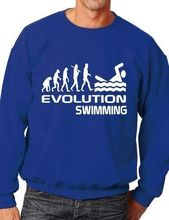 Evolution Of Swimming Swimmers Gift Unisex Sweatshirt Jumper More Size and Color-E134 все цены