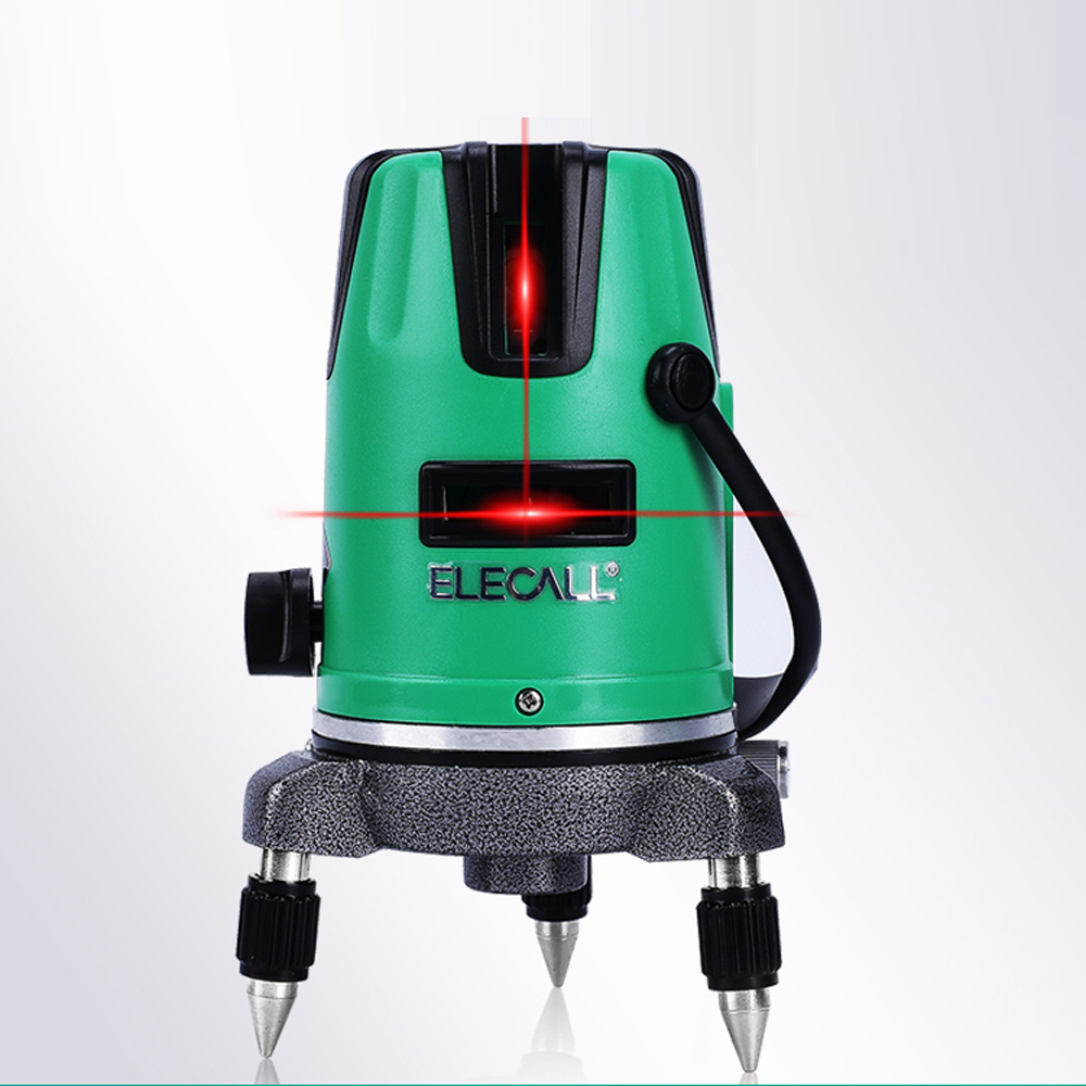 ELECALL 2 Cross line Laser Level Self-Leveling 360 Horizontal And Vertical Cross Super Powerful Green Laser Beam Line elecall em5416 200 high quality multipurpose level with bubble laser horizon vertical measure tape the horizontal ruler