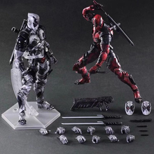 все цены на 26cm PLAY ARTS Deadpool Figure Toy Deadpool Unicorn Selfie X-Men Wade Winston Wilson Collectible Model Doll  Anime Figure онлайн