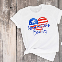 4th of july tops celebration red blue mom and daughter american beauty tshirt cutie shirt  family clothes little girl