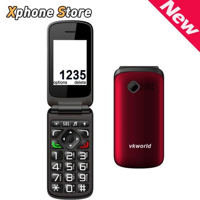 Original VKworld Z2 Flip Elder People Mobile Phone Support GSM Network Dual SIM Loud Speaker / FM / Bluetooth / Torch