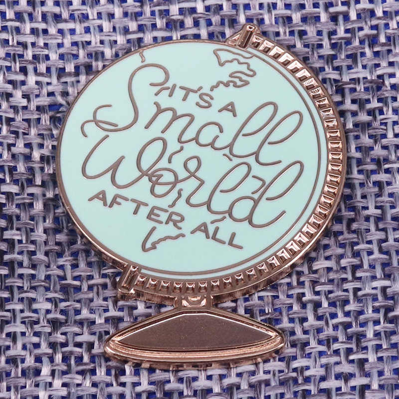 Ini Adalah Miniatur Lencana Vintage Globe Bros Dunia Peta Petualangan Pin Wanderlust Hadiah Perjalanan Kutipan Perhiasan