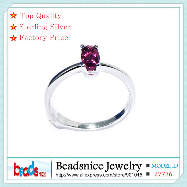 Beadsnice ID27736 top quality sterling silver rings 925 dainty ring wholesale midi rings for women with Tourmaline image