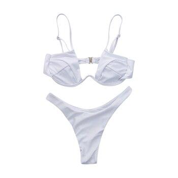 Women Push-up Padded Bra Bandage Bikini Set Swimsuit Triangle Swimwear Bathing 8