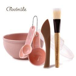 Choosmile DIY Gesichts Maske Kit 7 in 1 Hautpflege Make-Up-Tools Gesicht Maske Pinsel Schönheit Schüssel Set Maske rühren spatel Mischen Stick Löffel