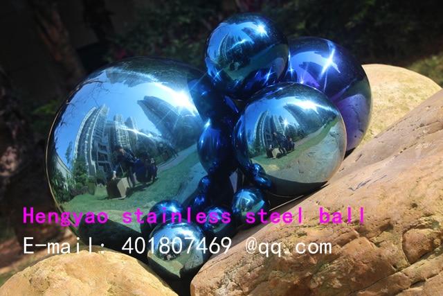 250 mm në diametër Top blu çeliku inox, top i uritur, top - Dekor në shtëpi - Foto 3