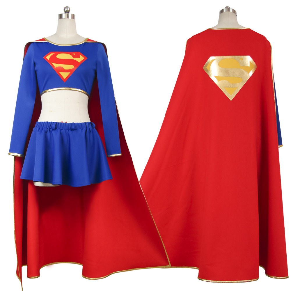 Costumes & Accessories Anime Costumes Dutiful Superman Costumes Superhero Movie Superman Family Supergirl Kara Zor-el Cosplay Customized High-end Cosplay For Men And Ms