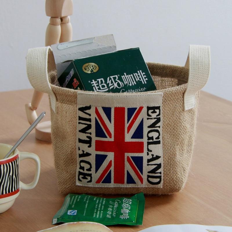 impermeable bandera yute bolsas canasta de para organizar la decoracin del hogar de cestas de