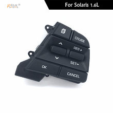 ee4d6b1fe6 Para Hyundai Movable Collar Solaris 1.6l Carro Dom Fãs de Botões de Controle  de Cruzeiro Volante Multifunções Interruptor Preto