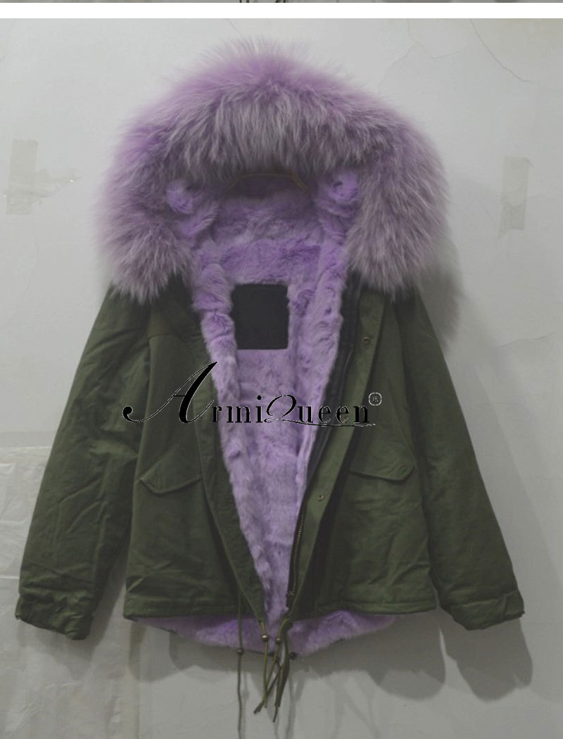High Quality Women Big Hooded purple faux Fur Collar Thicken Ourwear Fur Coat Luxurious Style Plus Size For Free Ship