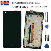100% testado novo para alcatel um toque idol mini 6012 ot6012 6012d display lcd + touch screen digitador assembléia substituição ferramentas