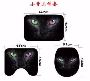 Image 4 - Cammitever 3 개/대 귀여운 고양이 샤워 목욕 매트 화장실 뚜껑 비 슬립 매트 카펫 물 흡수