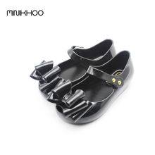 Girls Sandals Three Layers Bow Shoes Bow Mini Melissa Jelly Shoes Girls Princess Shoes Children Sandals For Melissa  Girls Soft