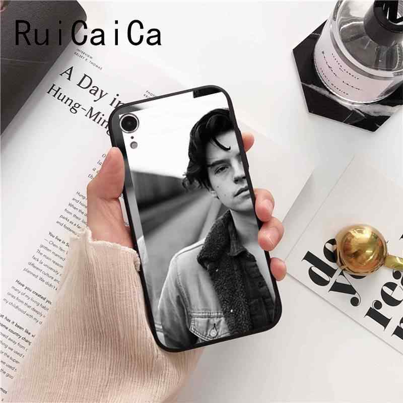 Ruicaica American TV Riverdale Series Cole Sprouse Face Novelt Phone Case Cover for iPhone 8 7 6 6S 6Plus X XS MAX 5 5S SE XR 10