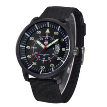 Mens Watches Relojes Hombre Luminous Watches 2018 New Date Day Police Black G10 Nylon Fabric Strap Quartz Watches #4A23 cheap Duobla 24 5cm Fashion Casual No waterproof Buckle Stainless Steel 10mm Glass Quartz Wristwatches No package 43mm man watch L8042317054001