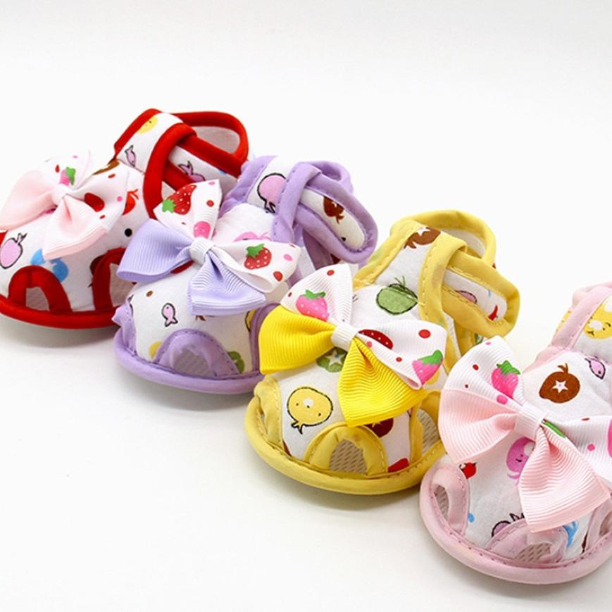 Energetic 2018 Newborn Baby Girls Kid Prewalker Lovely Bow Infant Toddler Princess First Walkers Soft Soled Shoe Dot Shoes Footwear Mother & Kids First Walkers