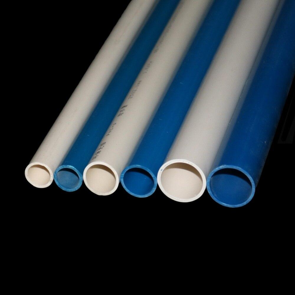 Blau/Weiß PVC Rohr OD 20mm 25mm 32mm Landwirtschaft Garten Bewässerung Rohr Aquarium Wasser Rohr 48-50cm 1 Pcs