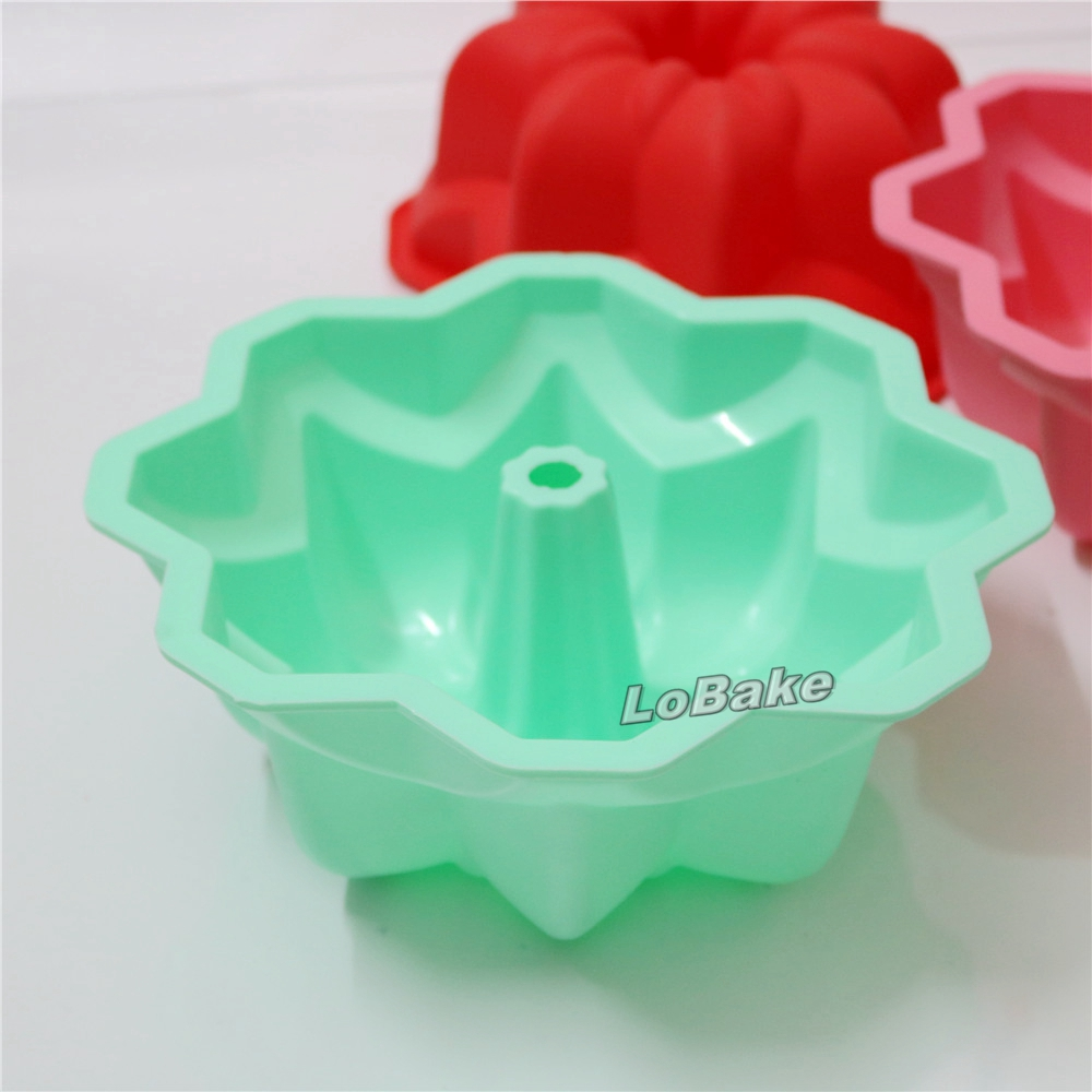 Latest 8.5 inches round octagon shape silicone hollow angel cake ...