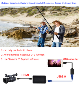 Image 5 - 4K Video Capture Card USB3.0 HDMI Video Grabber Record Box for PS4 Game DVD Camcorder Camera Recording Live Streaming 1080P 60Hz