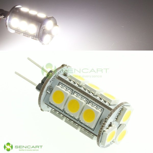 5.25W  G4 LED bulb light DC12V 15leds SMD5050 LED G4 led light free shipping