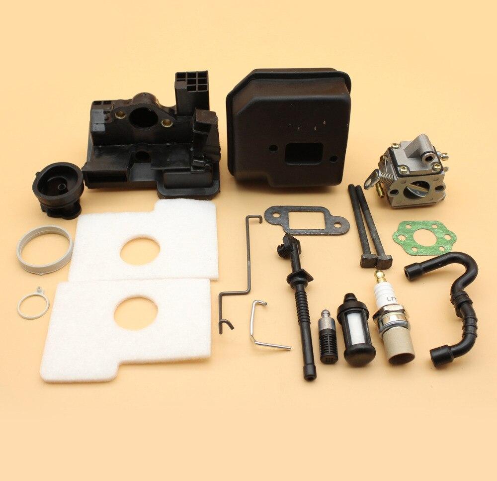 Carburetor Muffler Air Filter Intake Housing Base Fuel Oil Hose Kit For STIHL MS180 MS170 018 017 MS 180 Chainsaw Zama C1Q-S57B бензопила stihl ms 180 14