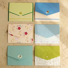 6PCS/lot 100*75mm New Cute Vintage flower DIY Multifunction mini envelope design card(China)