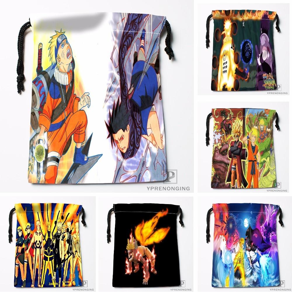 Custom Naruto Drawstring Bags Printing Travel Storage Mini Pouch Swim Hiking Toy Bag Size 18x22cm#180412-11-23