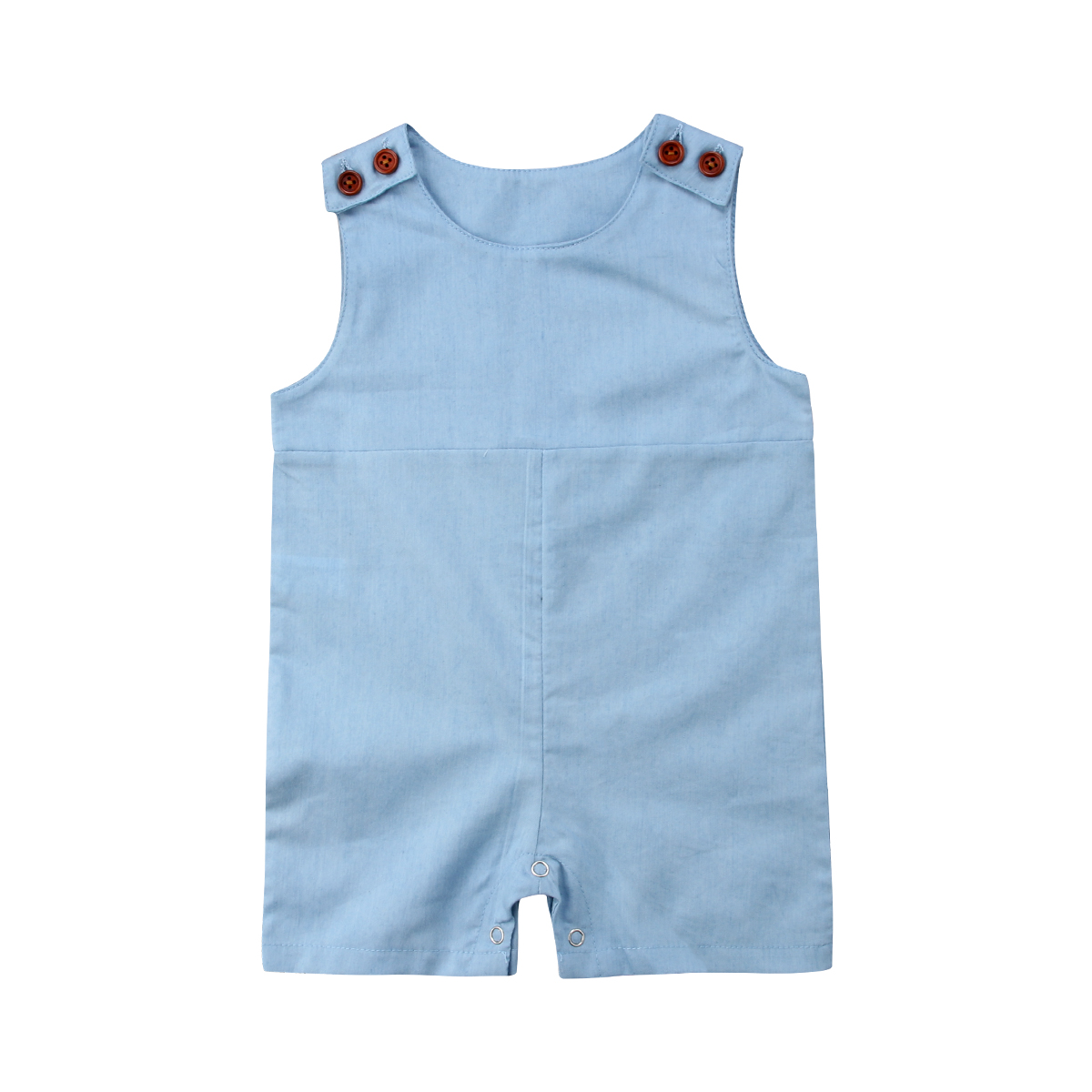 Pudcoco 0-24M Newborn Infant Baby Girls Boy Sleeveless Blue Romper Cotton Playsuit Jumpsuit Rompers Baby Boy Summer Clothes