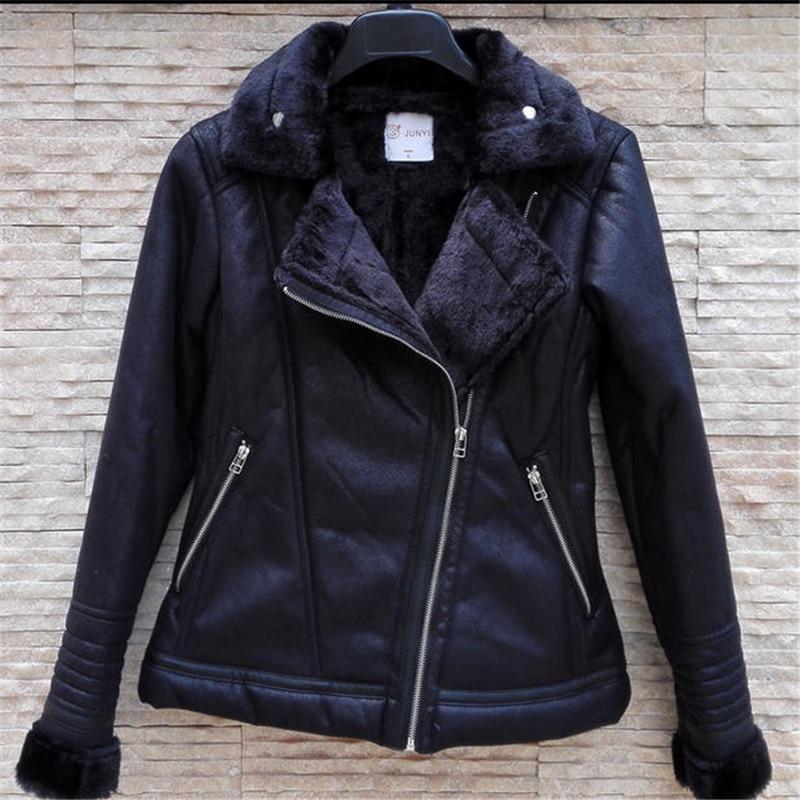 Black Sheepskin Jacket Womens | Outdoor Jacket