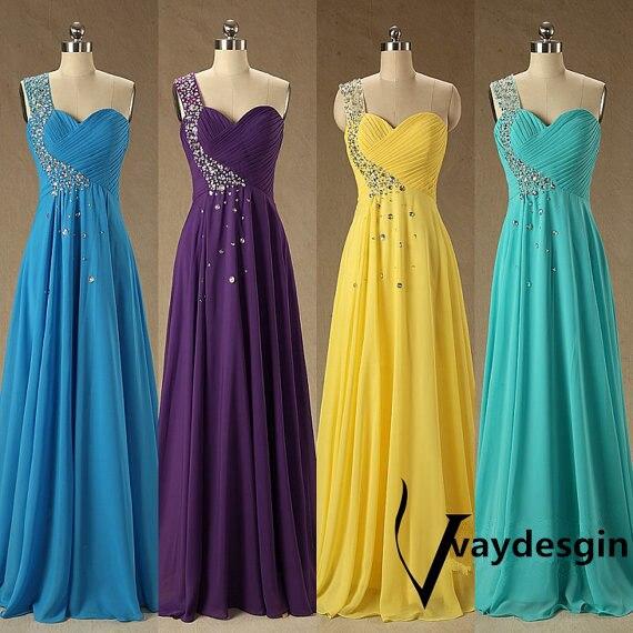 Purple yellow wedding dresses