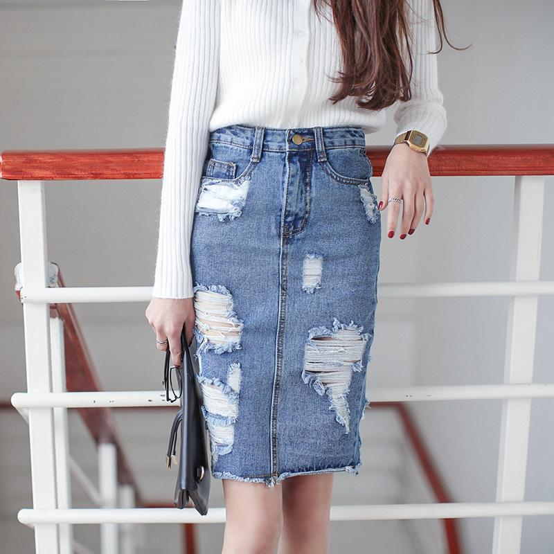 Popular Ripped Denim Skirts-Buy Cheap Ripped Denim Skirts lots ...