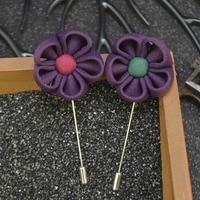New Men's Lapel Flower Sun Flower Brooches Handmade Boutonniere Stick Brooch Pin For Mens Suit Accessories Wholesale 18 PCS/LOT