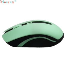 Hot-sale MOSUNX 4 Buttons 5 Colors 1600DPI 2.4GHz Wireless Optical 4D Gaming Mouse Mice + Receiver for Computer Laptop Gifts