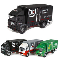 1 60 Scale Mini Express Truck Container Model Classic Car Toys Diecast Meta Small Truck Cars