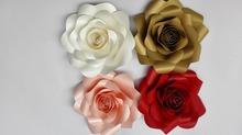 Fashion 30cm Paper Flowers Artificial Rose DIY Crafts Birthday Party Home Backdrop Wedding Decoration Event Supplies