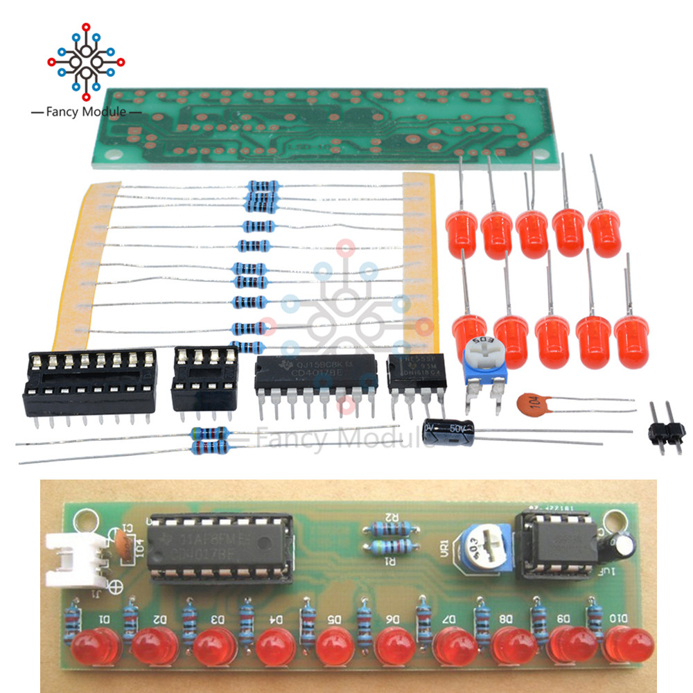 Ne555 Cd4017 Ne555 Driver Water Powered Board Circuit Water Flowing Light Led Electronic Module Diy Kit Running Light Drive Special Summer Sale Integrated Circuits Electronic Components & Supplies