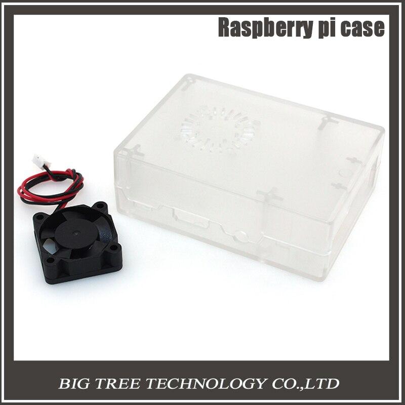 Подробнее о New Raspberry Pi ABS Clear color case Plastic Box with Cooling Fan module For Raspberry Pi 2 & Raspberry Pi model b plus &3 original black abs plastic case box enclosure for raspberry pi 3 model b screws