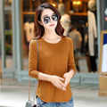 Vetement Femme 2016 Tshirt Women Pockets Casual Winter Tops Long Sleeve T Shirt Cotton T-Shirt Kawaii Clothes Camisas Femininas
