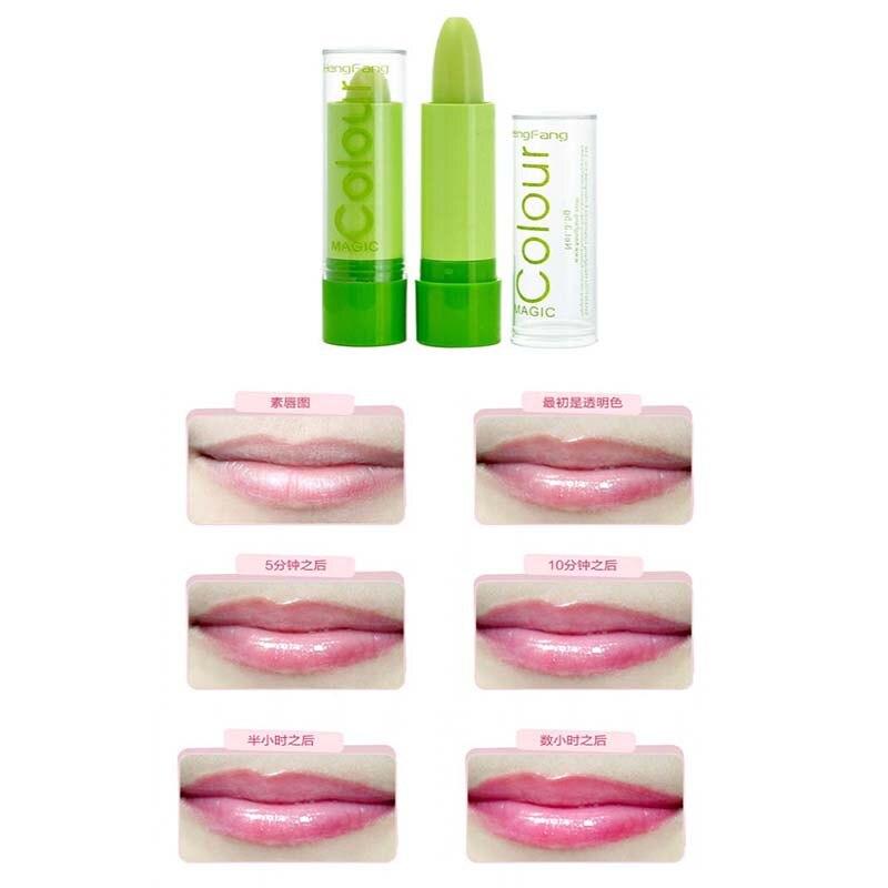 1 шт. Magic Цвет Температура изменить Цвет бальзам для губ влаги антивозрастной защиты губ 3.2 г макияж бренд