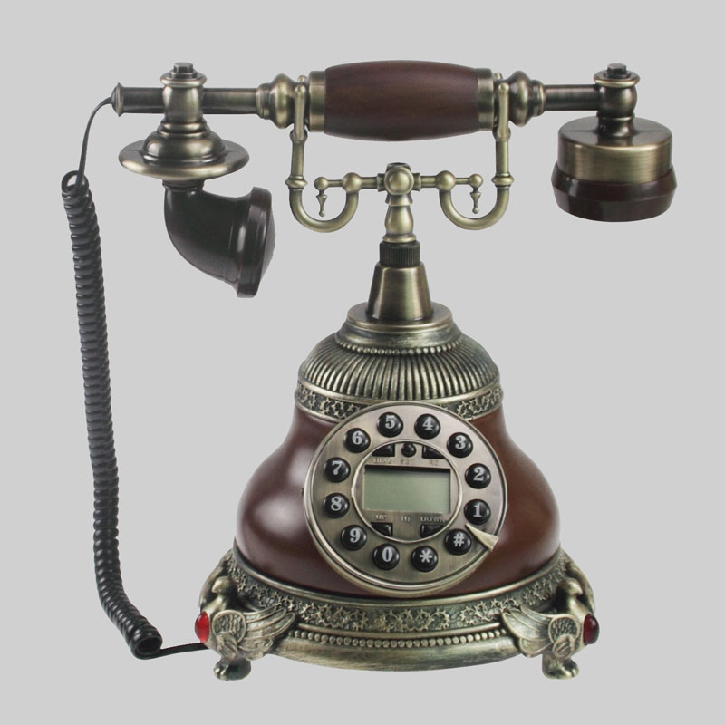 style home decoration, the new antique style antique seat type fixed retro Antique Gift antique antique telephone Rotate Dial