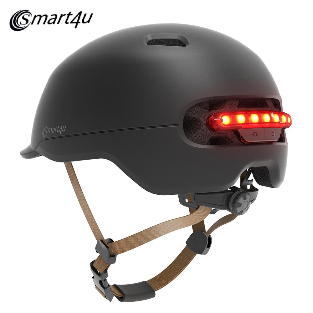 Smart4u SH50 Cycling Helmet Intelligent Back LED Light for Bike Scooter High Strength PC EPS 7